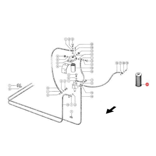 filtr oleju silnika rysunek