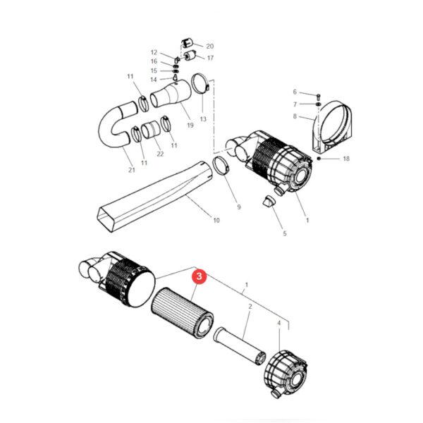 4270033m1 filtr powietrza 1 600x600 - Filtr powietrza zewnętrzny Donaldson P828889