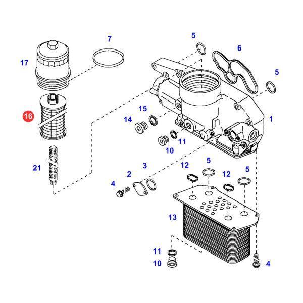 f716200510020 filtr oleju silnika rysunek 600x600 - Filtr oleju silnika SF SO5242/1