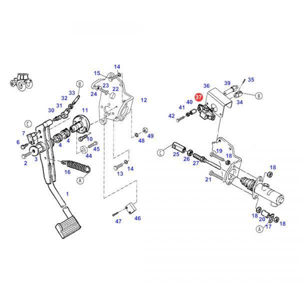 g916971020033 czujnik polozenia rysunek 600x600 - Czujnik położenia Massey Ferguson G916971020034 Oryginał