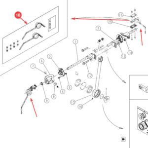 Sprężyna mieszająca – zestaw Sulky 911018