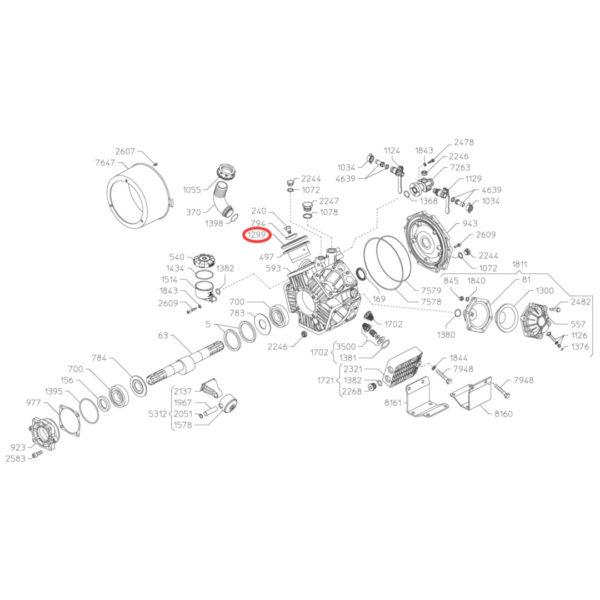 090313 membrana pompy rysunek 600x600 - Membrana pompy Kappa, Zeta - 090313 Udor
