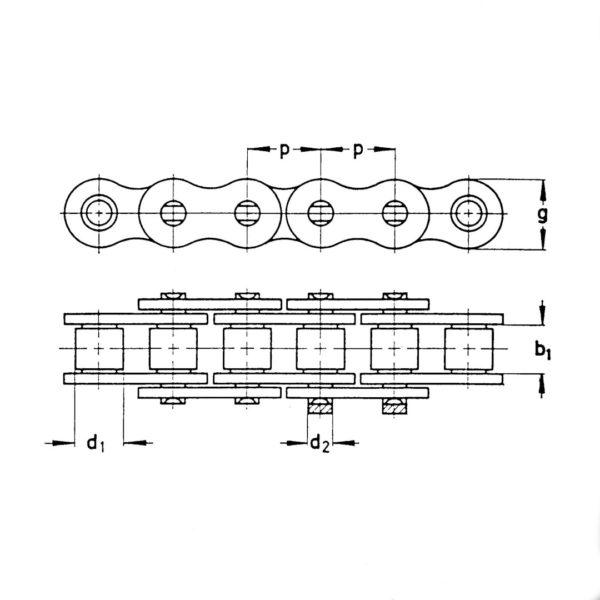 lancuch wymiary 600x600 - Półogniwo łańcucha Rollon 0000028610 Claas 38,4-R