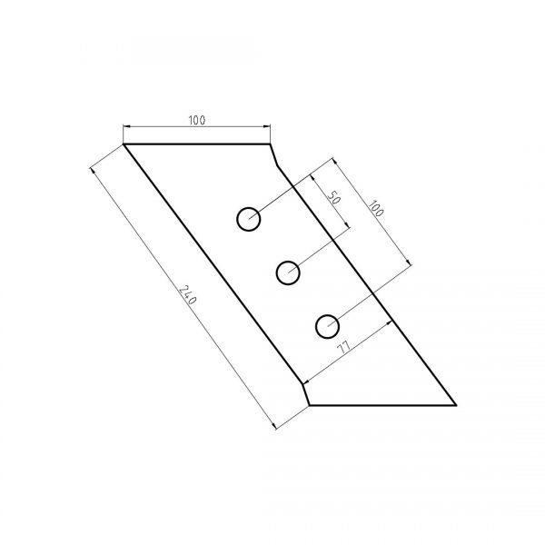 ge173332 dluto wymiary 600x600 - Dłuto prawe 3 otwory Gregoire-Besson 173332