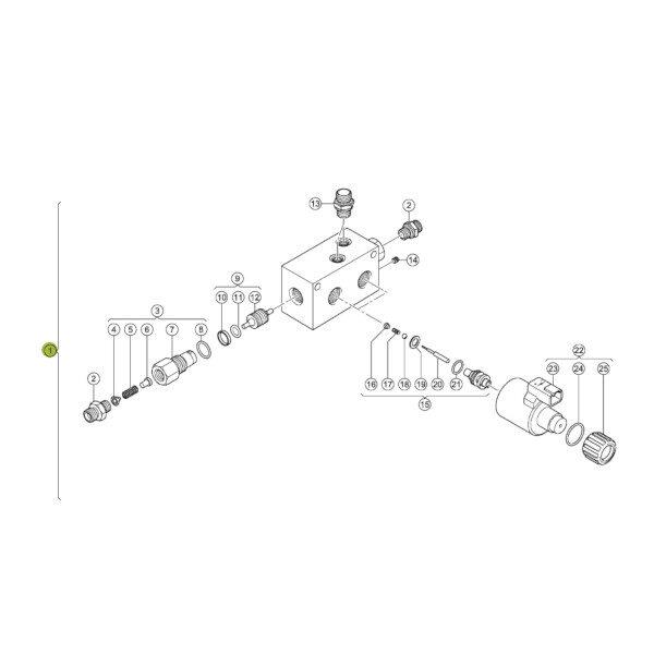 0000554310 zawor hydrauliczny rysunek 600x600 - Zawór hydrauliczny prasy Claas 0000554310 Oryginał