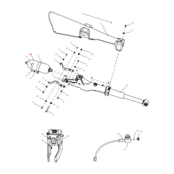 189 3164 akumulator cisnienia rysunek 600x600 - Akumulator ciśnienia hydrauliki Challenger 189-3164 Oryginał