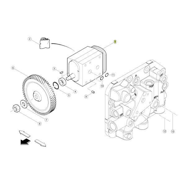 cl0011300060 katalog 600x600 - Pompa hydrauliczna Claas 0011300060 Oryginał