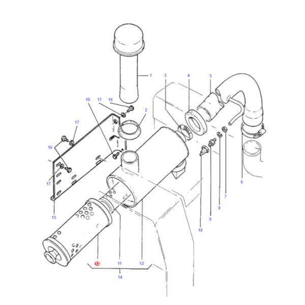 mf1678294M1 katalog 600x600 - Filtr powietrza zewnętrzny Massey Ferguson 1678294M1 Oryginał