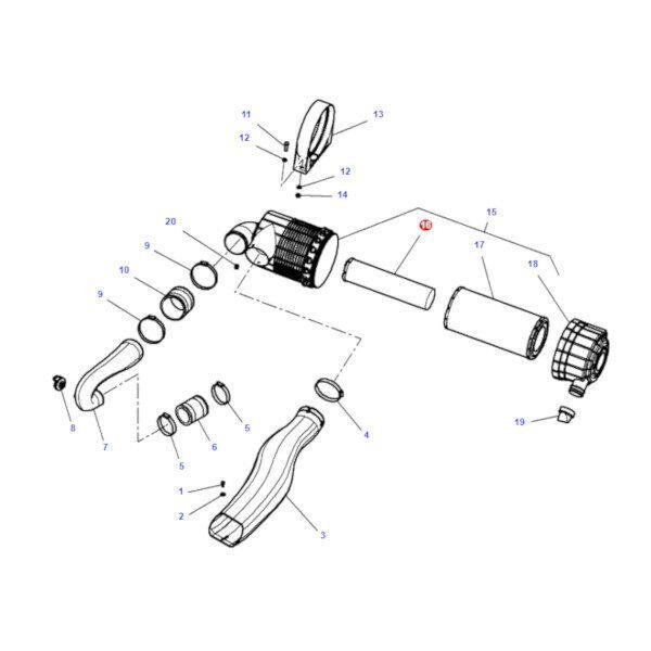 mf4270034M1 katalog 600x600 - Wkład filtra powietrza Massey Ferguson 4270034M1 Oryginał
