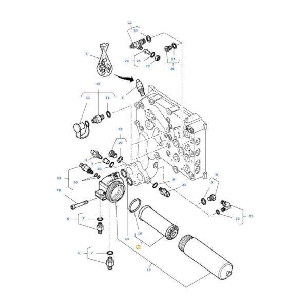 mf4312614M1 katalog 600x600 - Filtr oleju hydrauliki Massey Ferguson 4312614M2 Oryginał