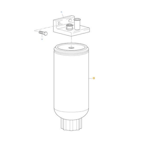 mfLA5040480250 katalog 600x600 - Filtr paliwa z separatorem wody Massey Ferguson LA504048025 Oryginał