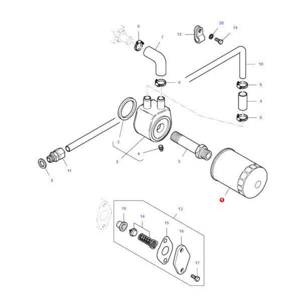 mfV836479561 katalog 600x600 - Filtr oleju silnika puszkowy Massey Ferguson V836479591 Oryginał