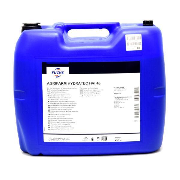 hydratec hvi 46 zdj1 600x600 - Olej hydrauliczny Fuchs Agrifarm HYDRATEC HVI 46 - 20L