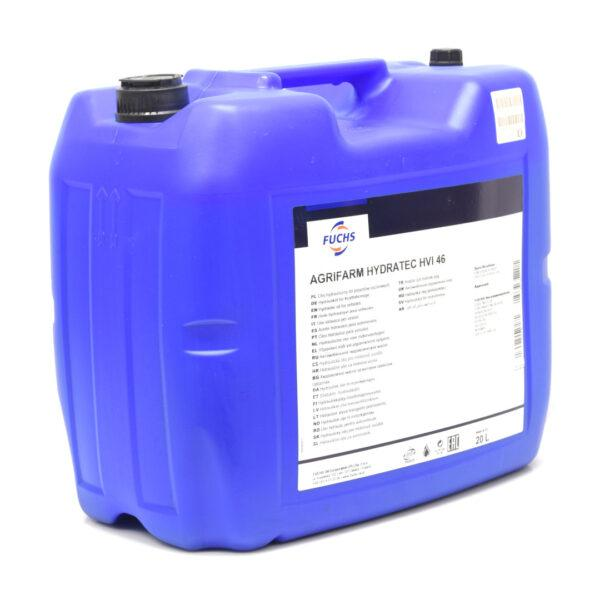 hydratec hvi 46 zdj2 600x600 - Olej hydrauliczny Fuchs Agrifarm HYDRATEC HVI 46 - 20L