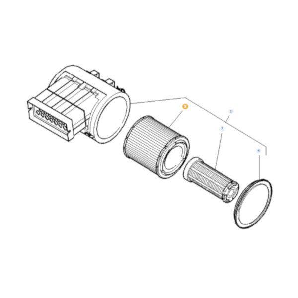 mf4278631M1 rysunek 1 600x600 - Wkład filtra powietrza Massey Ferguson 4278631M1 Oryginał