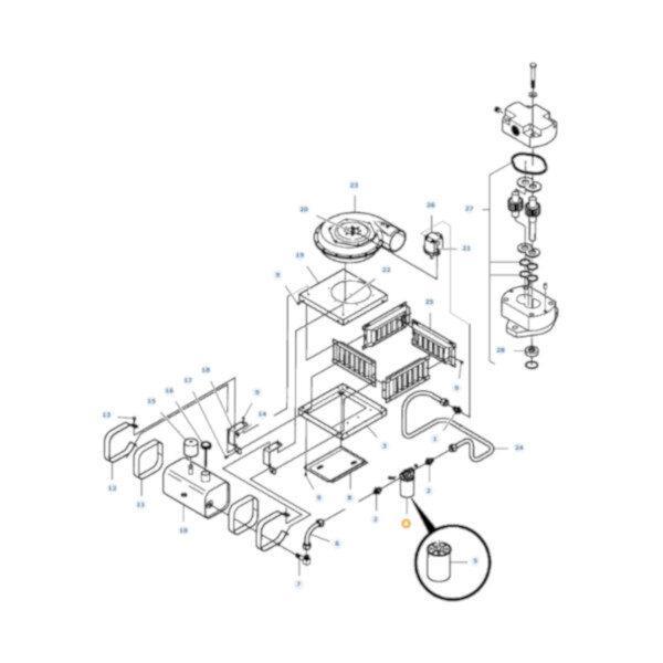 mf7033616 rysunek 600x600 - Filtr hydrauliki Massey Ferguson 7033616 Oryginał