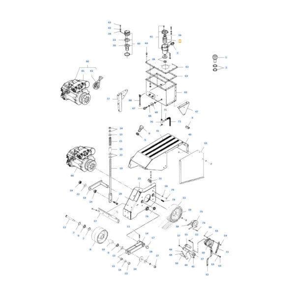 mfd45165900 rysunek 600x600 - Wkład filtra oleju Massey Ferguson D45165900 Oryginał