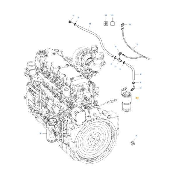 mfla323298950 rysunek 600x600 - Filtr oleju silnika Massey Ferguson LA323298950 Oryginał