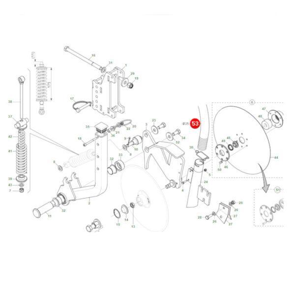 F03100561R przewod wysiewu nawozu rysunek 600x600 - Przewód wysiewu nawozu śr. 35 Maschio Gaspardo F03100561R