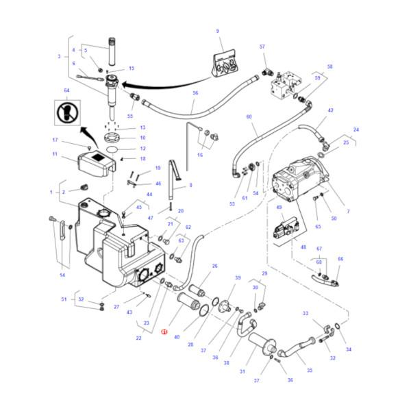 MF3785235M4 katalog - Filtr oleju hydrauliki Massey Ferguson 3785235M4 Oryginał