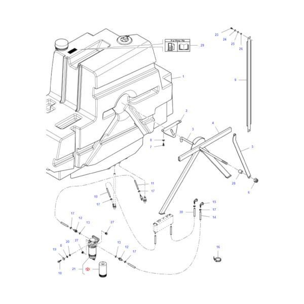 MFV836862563 katalog - Filtr paliwa z separatorem wody Massey Ferguson V836862563 Oryginał