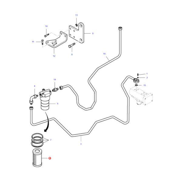 MFVA262825 katalog - Filtr oleju hydrauliki Massey Ferguson VA262825 Oryginał