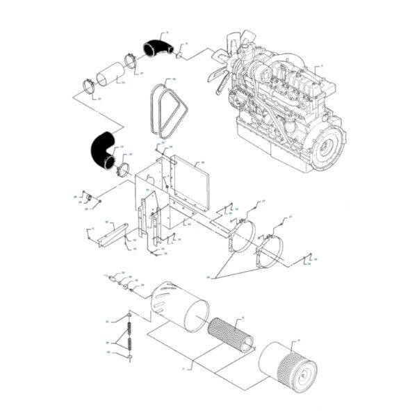 mf3580723M1 rysunek 600x600 - Filtr powietrza zewnętrzny Massey Ferguson 3580723M1 Oryginał