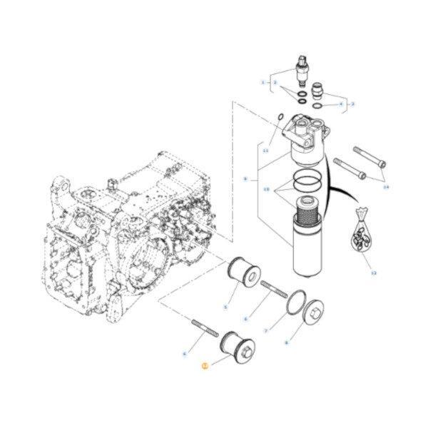 mf4358348M1 rysunek 600x600 - Filtr hydrauliki Massey Ferguson 4358348M1 Oryginał