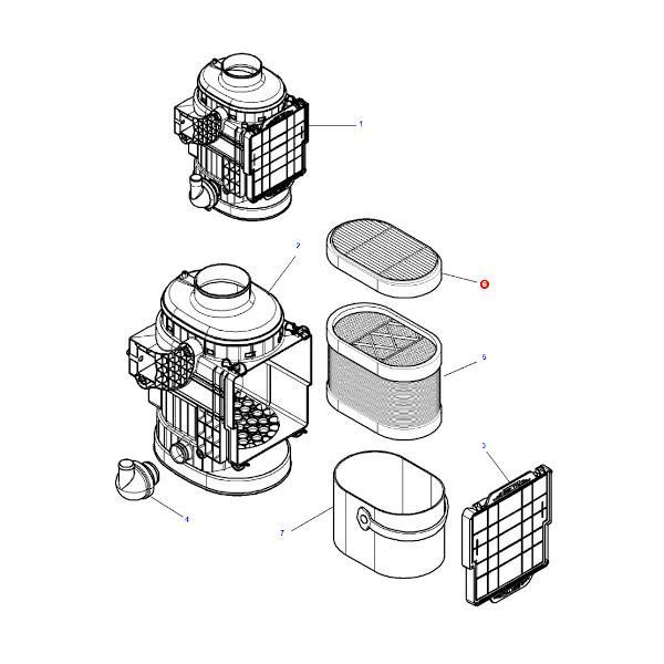Filtr powietrza wewnętrzny Mann Filter CF2550