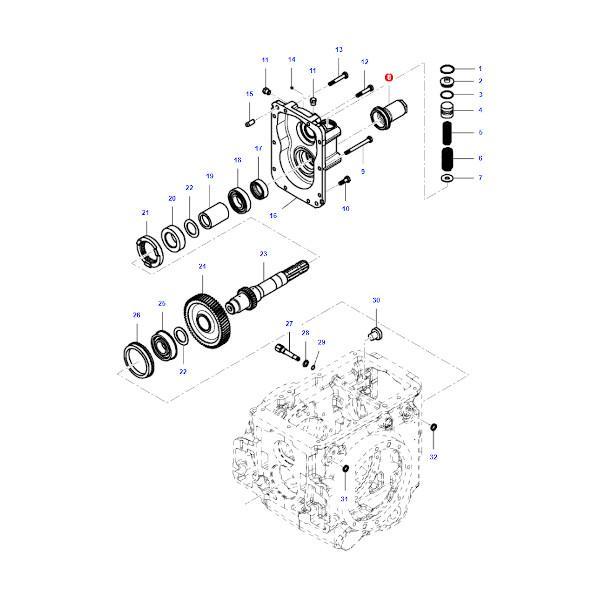 mfva124691 katalog - Osłona wałka wom Massey Ferguson VA124691 - Oryginał