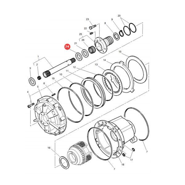 3382237M1 pierscien uszczelniajacy katalog 600x600 - Pierścień uszczelniający skrzyni biegów Massey Ferguson 3382237M1 oryginał