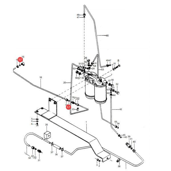 376524X1 stozek zacisk katalog 600x600 - Wkładka uszczelniająca przewodu paliwa Massey Ferguson 376524X1 oryginał