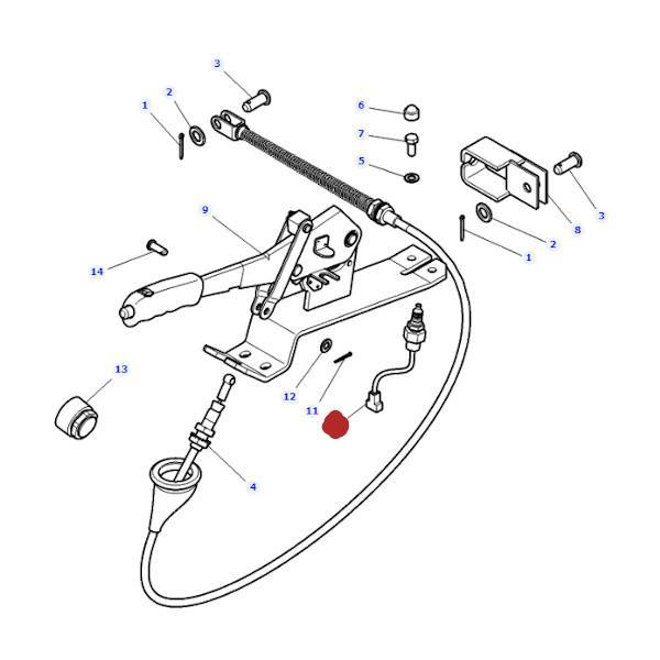 Włącznik hamulca ręcznego Massey Ferguson 4293575M1 - rysunek