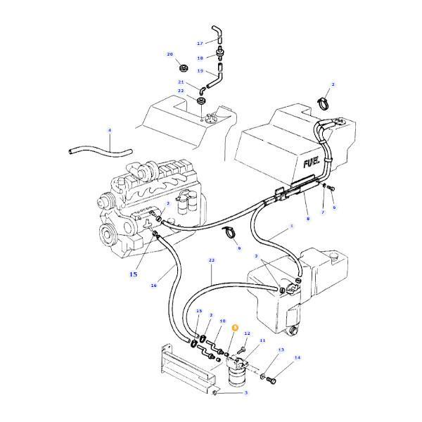 Wkładka uszczelniająca przewodu paliwa Massey Ferguson rysunek