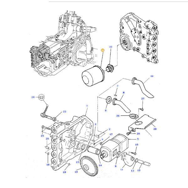 Filtr oleju hydrauliki Massey Ferguson 4303303M1