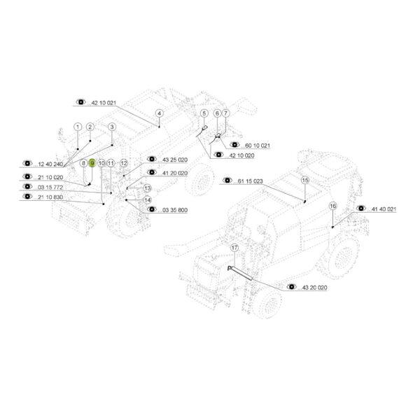 011780 czujnik polozenia katalog 600x600 - Czujnik położenia podajnika pochyłegoJAG 0000117801 Claas
