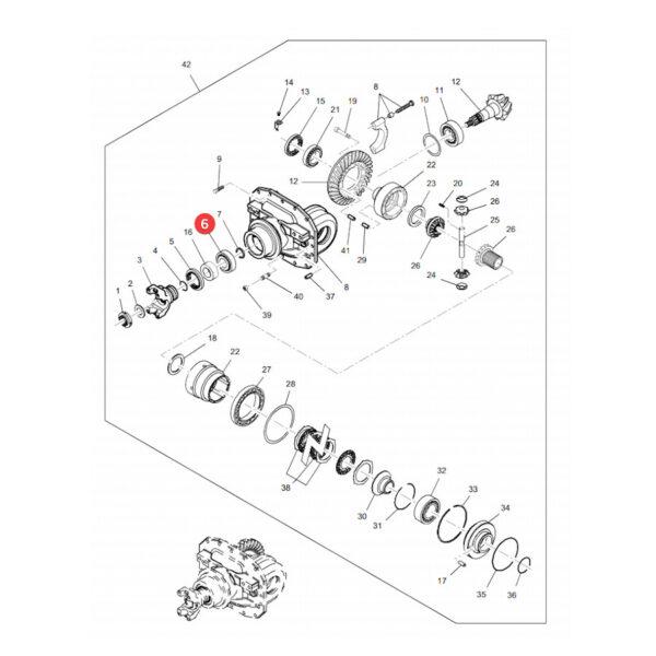 3426619m1 lozysko katalog 600x600 - Łożysko stożkowe sworznia zwrotnicy Massey Ferguson 3426619M1 JAG