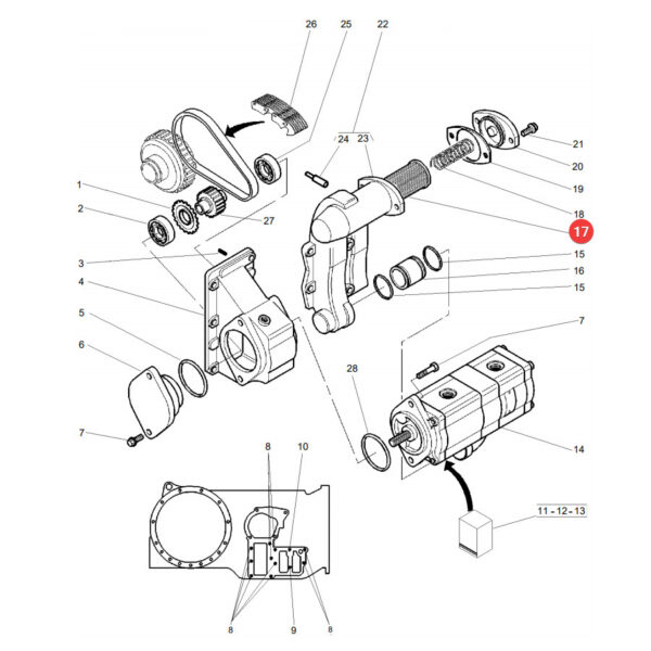 3800305m91 wklad filtra katalog 600x600 - Filtr oleju hydrauliki Massey Ferguson 3800305M91 oryginał