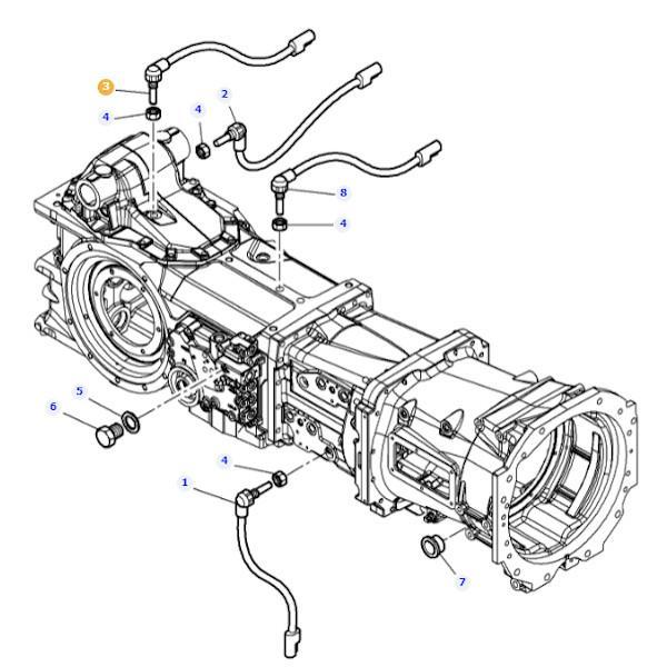 Czujnik obrotów Massey Ferguson 4364876M1- Oryginał schemat