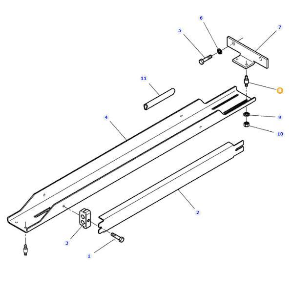 Amortyzator metalowo-gumowy stopnia kabiny Massey Ferguson 658081M2- Oryginał schemat
