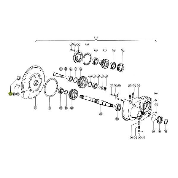 Pierścień uszczelniający JAG 0002181600 Claas schemat