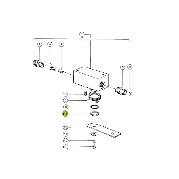 Pierścień uszczelniający siłownika JAG 0002384550 Claas rysunek techniczny