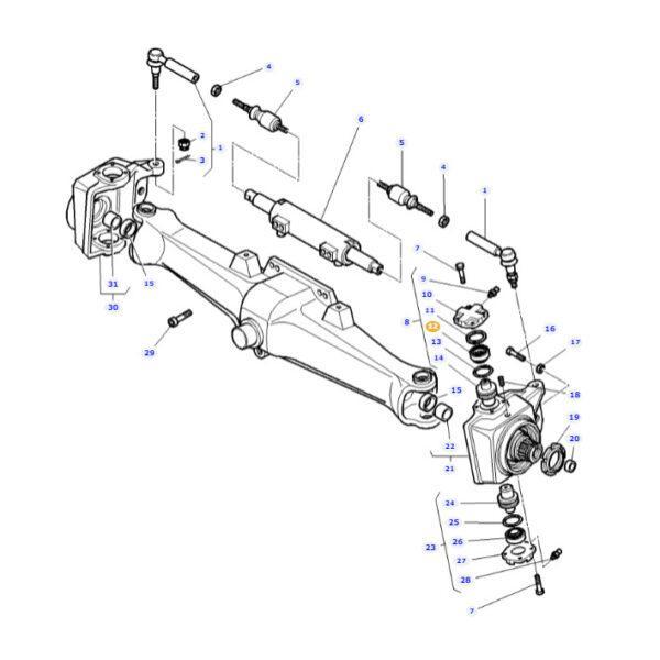 Łożysko wałeczkowo-stożkowe JAG 3310930M91 Massey Ferguson schemat