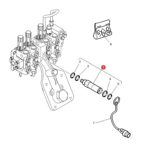 3905722m91 szybkozlacze gniazdo  m22x1.5 katalog 600x599 - Szybkozłącze hydrauliczne- Gniazdo M22x1,5 3905722M91 Sparex