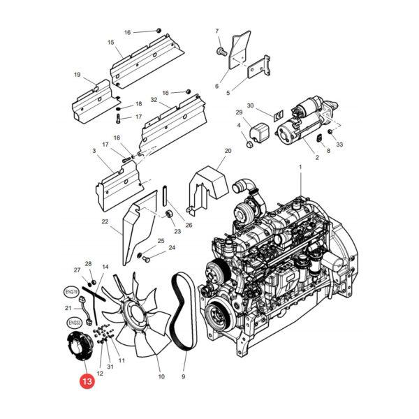 4281538m1 sprzeglo wentylatora katalog 600x600 - Sprzęgło wentylatora Massey Ferguson 4281538M1 Sparex