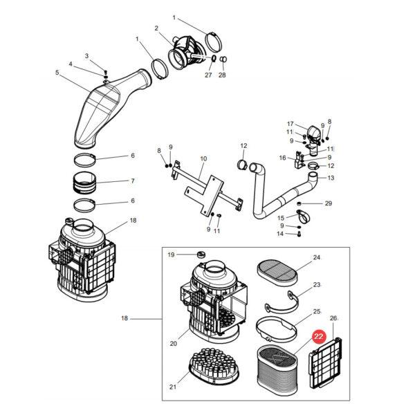 C27380 filtr powietrza zewnetrzny katalog 600x600 - Filtr powietrza Mann Filter C27380