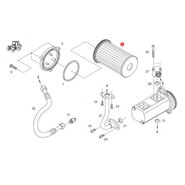 Filtr oleju hydrauliki - filtr skrzyni SF HY90370 Katalog