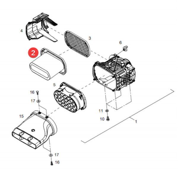 Filtr powietrza zewnętrzny Mann Filter C34540/1 Katalog