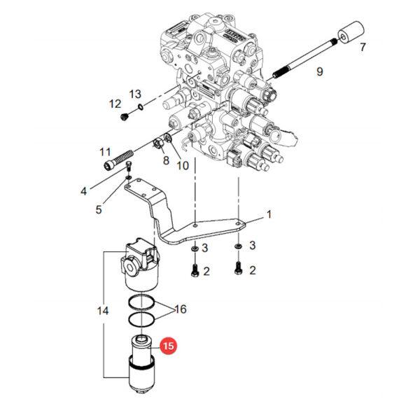 MHHD453 katalog 600x600 - Filtr hydrauliki HD45/3 Mann Filter