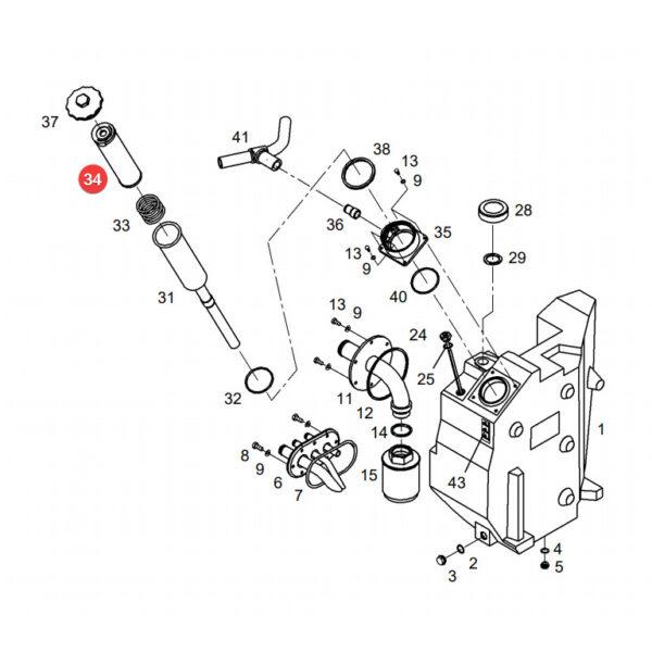 filtr oleju hydrauliki H724 3 katalog 600x600 - Filtr hydraulika H724/3 Mann Filter